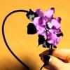 Атласні стрічки квіти своїми руками
