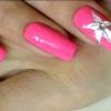 Квіти лаком на нігтях
