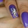 Як намалювати метелика на нігтях