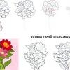 Як намалювати букет квітів
