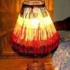 """Як зробити абажур """"циганська спідниця"""" для настільної лампи"""