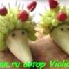Як зробити фруктового їжачка з груші. Прикраси для фруктової тарілки.