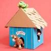 Як зробити з картону іграшковий будиночок