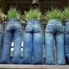 Як зробити кашпо зі старих джинсів?