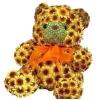 Як зробити ведмедика з квітів?