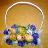 Як зробити ошатну корзинку для яєць або цукерок