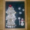 Як зробити новорічну картинку з ялинкою з гудзиків