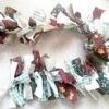 Як зробити святкову гірлянду з клаптиків тканини