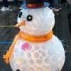 Як зробити сніговика з пластикових стаканчиків