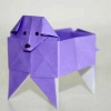 Як зробити собачку з паперу