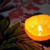 Як зробити свічку з апельсина?