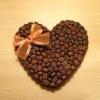 Як зробити валентинку з кавовими зернами