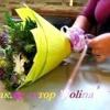 Як зібрати букет з квітів і зробити упаковку з паперу. Майстер клас.