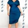 Як вибрати сукню для візуального зменшення обсягів тіла.
