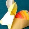 Орігамі з паперу кролик