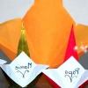 Орігамі з паперу подарунок мамі
