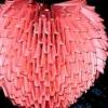 Орігамі серце об'ємне