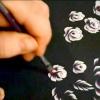 Роза плоскою кистю