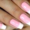 Рожеві нігті френч