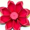 Зробити з паперу квітку орігамі