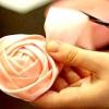 Весільний букет з атласних стрічок своїми руками