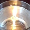 Свічка у склянці з водою своїми руками