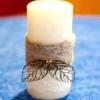 Прикраса весільних свічок майстер клас