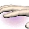 Печіння і біль в подушечці великого пальця руки